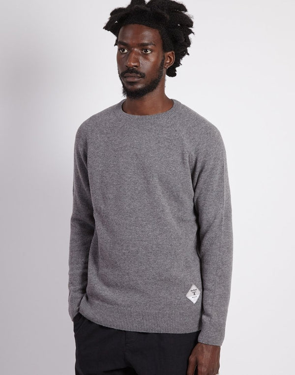 Barbour - Beacon Lambswool Crew Neck Jumper Grey