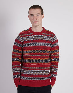 Barbour - Case Fairisle Crew Red