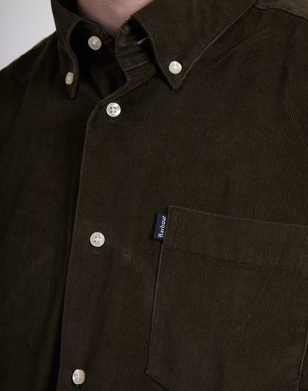 Barbour - Stapleton Morris Cord Shirt Grey