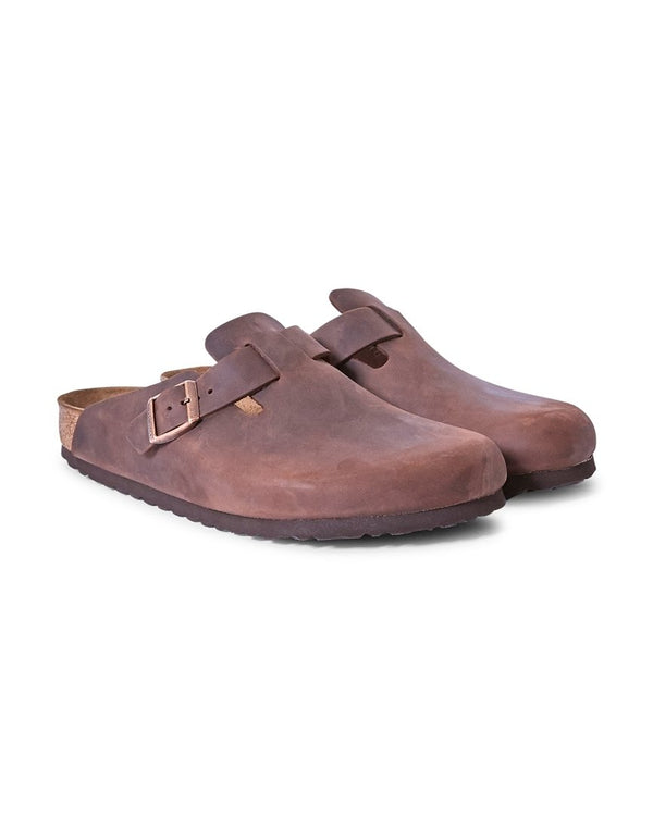 Birkenstock - Boston Sandal Dark Brown Leather