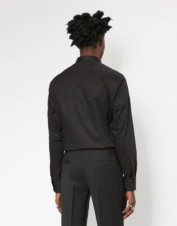 The Idle Man - Slim Stretch Shirt Black