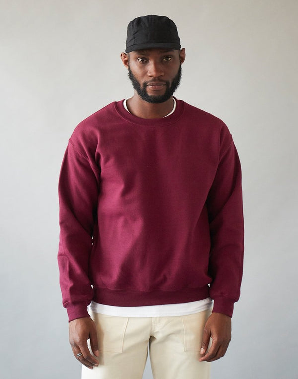 The Idle Man - Basic Sweatshirt Burgundy