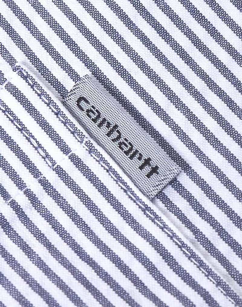 Carhartt WIP - Alder Short Sleeve Stripe Shirt Navy
