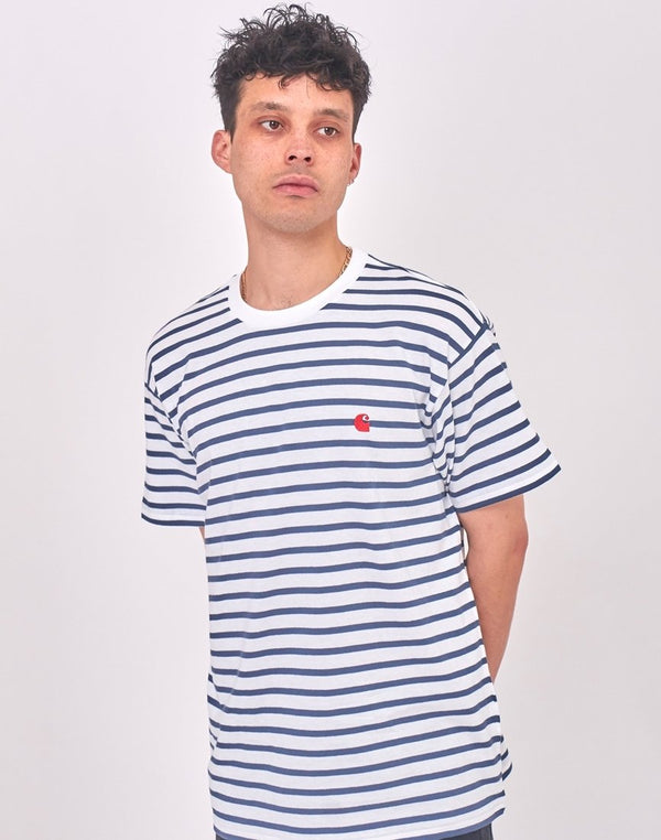 Carhartt WIP - Champ Short Sleeve Stripe T-Shirt Blue