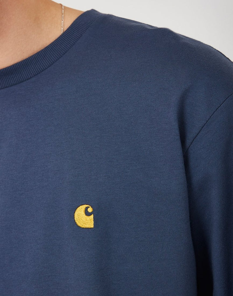 Carhartt WIP - Chase Long Sleeve T-Shirt Blue