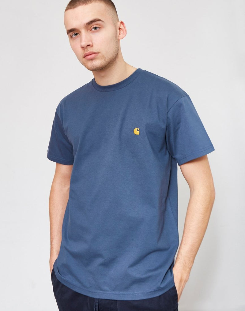 Carhartt WIP - Chase Short Sleeve T-Shirt Blue