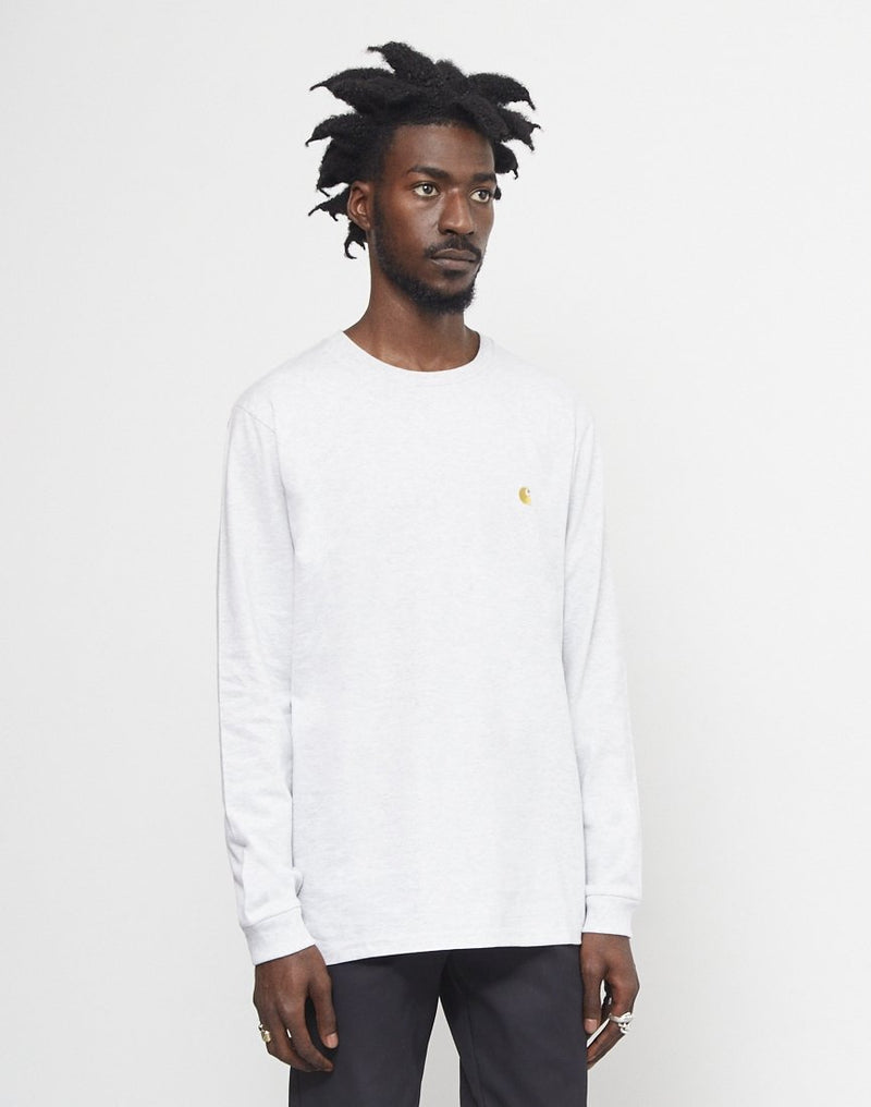 Carhartt WIP - Long Sleeve Chase T-Shirt Grey