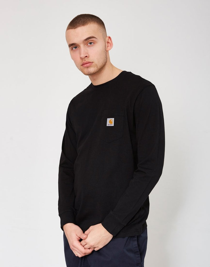 Carhartt WIP - Long Sleeve Pocket T-Shirt Black
