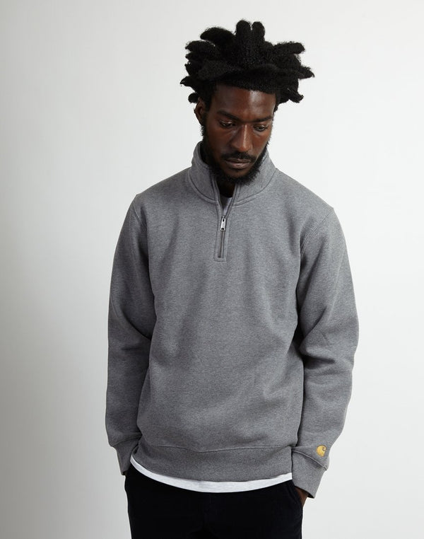 Carhartt WIP - Chase Highneck Sweatshirt Dark Grey