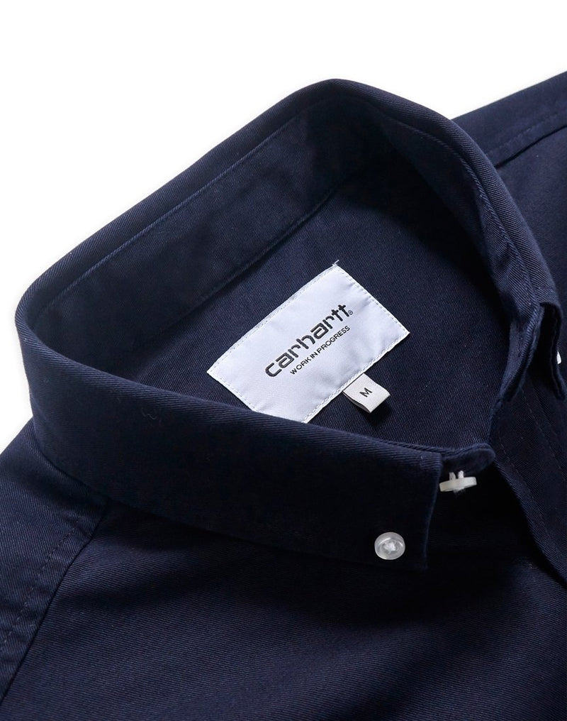 Carhartt WIP - Long Sleeve Madison Shirt Navy