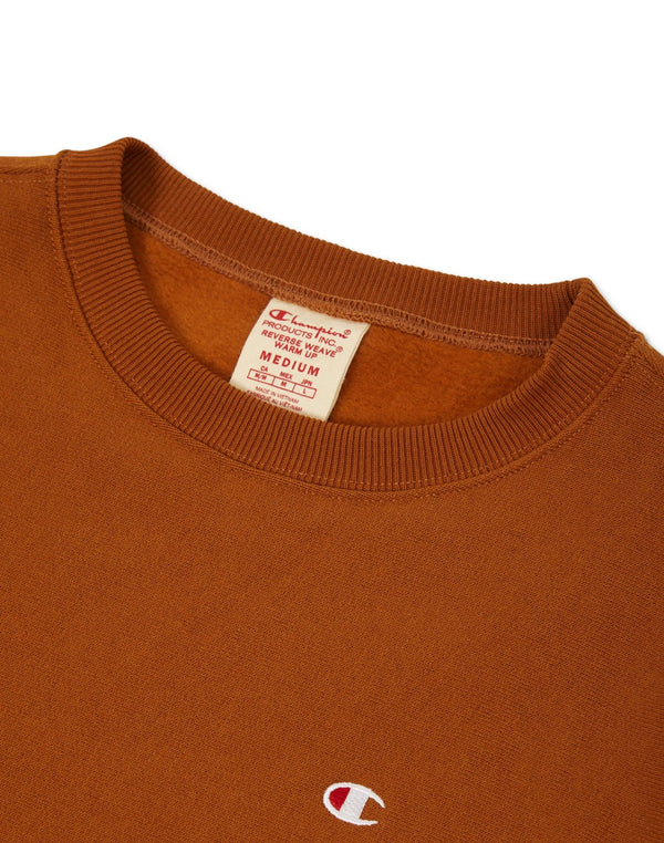 Champion - Crewneck Small Logo Sweatshirt Brown