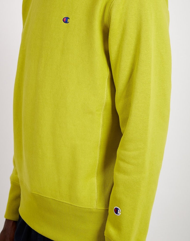 Champion-  Crewneck Small Logo Sweatshirt Lime