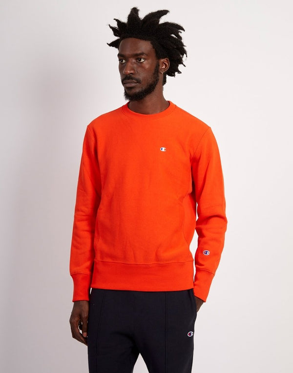 Champion - Classic Small Logo Crewneck Sweatshirt Orange