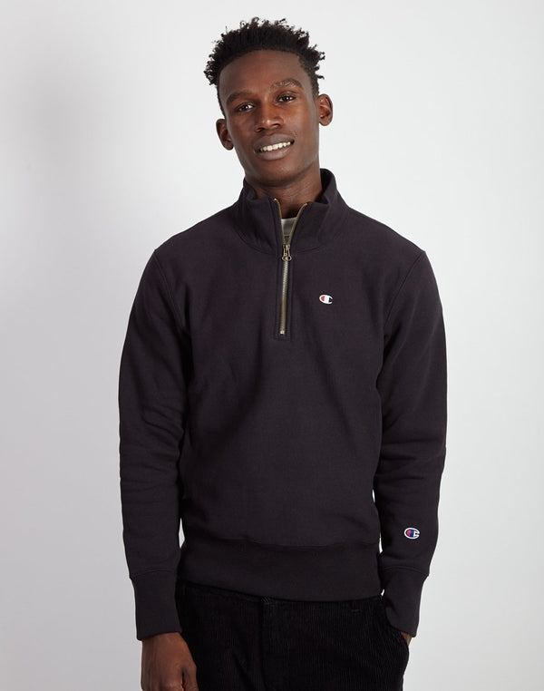 Champion - Half Zip Small Logo Sweatshirt Black