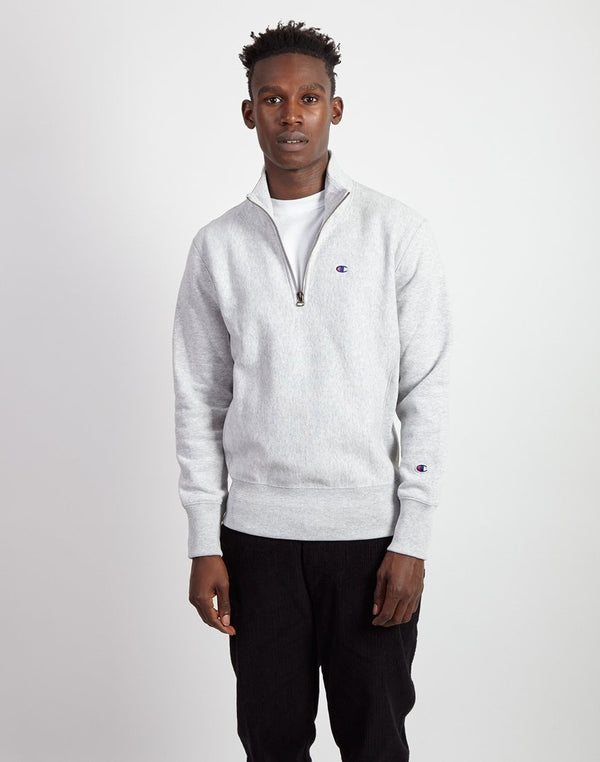 Champion - Half Zip Sweatshirt Heather Grey