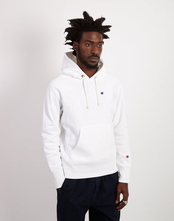 Champion - Classic Small Logo Hooded Sweatshirt White