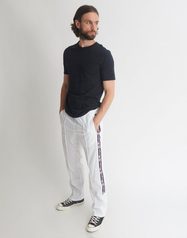 Champion - Logo Stripe Sweatpants White
