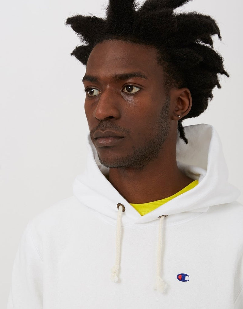 Champion - Reverse Weave Hooded Sweatshirt White