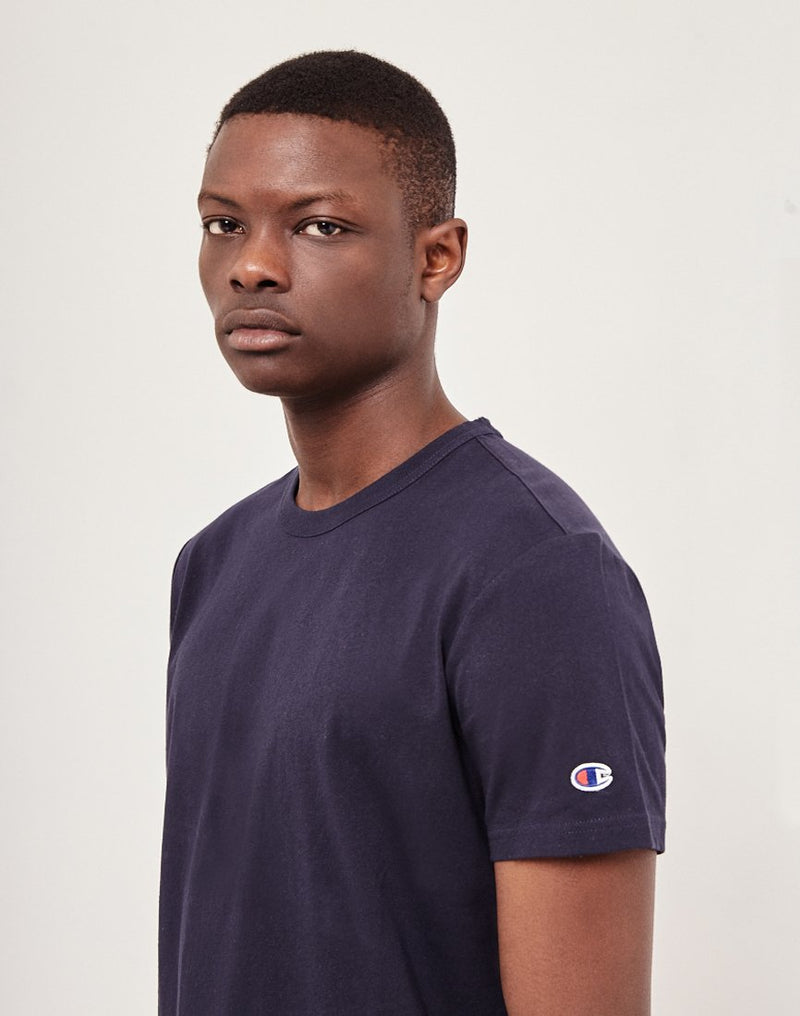 Champion - Reverse Weave Crew Neck T-Shirt Navy