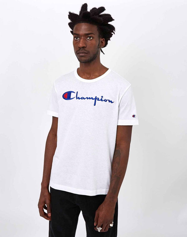 Champion - Reverse Weave Script T-Shirt White
