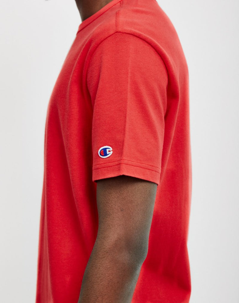 Champion - Reverse Weave Crew Neck T-Shirt Red
