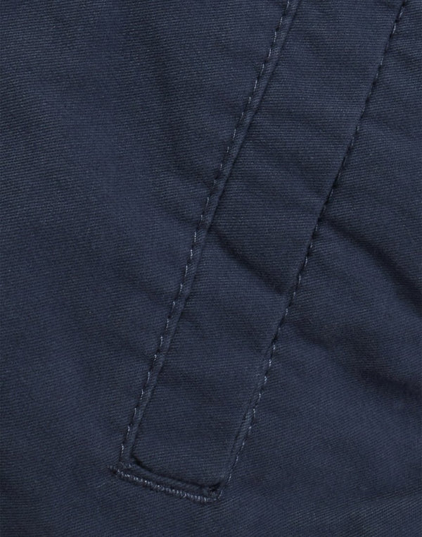 The Idle Man - Elasticated Shorts Navy