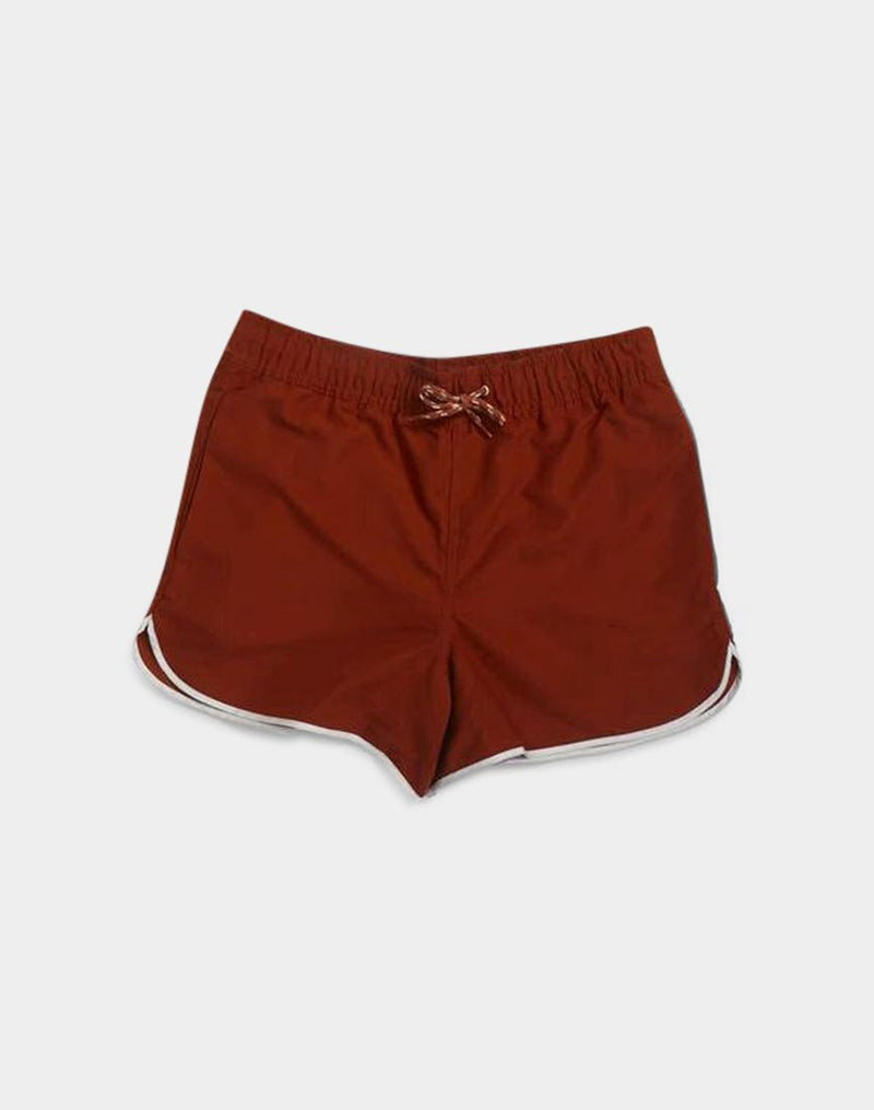 The Idle Man - Swim Shorts Brown