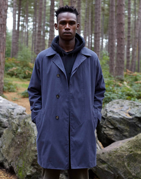 The Idle Man - Oversized Mac Navy