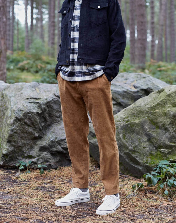 The Idle Man - Relaxed Cord Trouser Tan