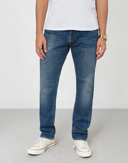 ED-80 - Slim Tapered Red Listed Selvage Denim Jeans Retro Wash