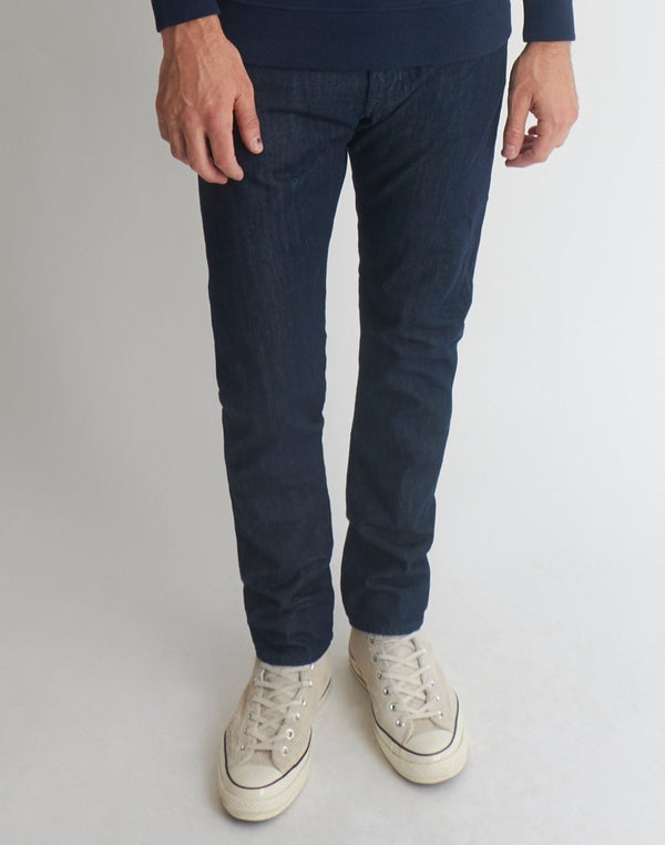 Edwin - ED-55 Regular Tapered Kingston Blue Denim Cotton 12oz Jean Rinsed