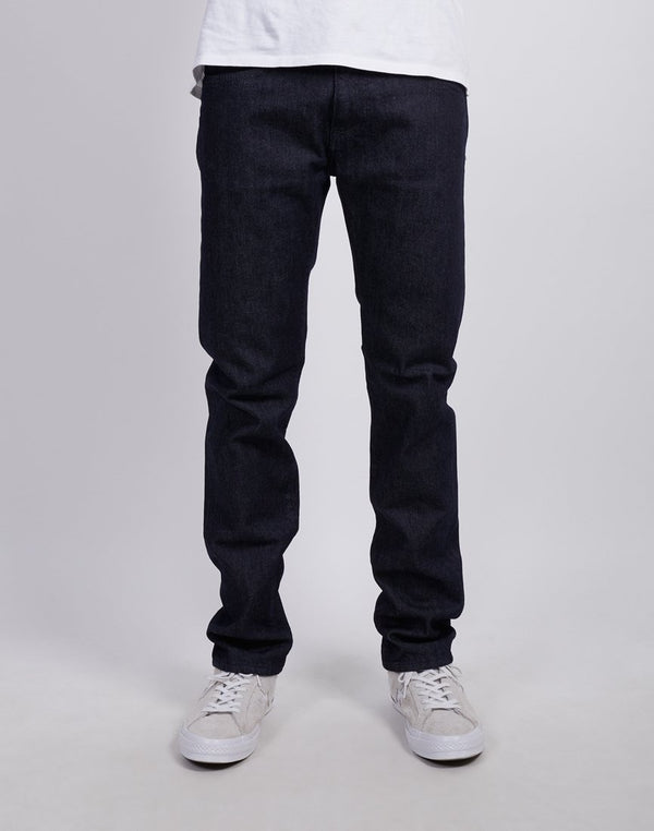 Edwin - ED-80 Slim Tapered Jeans, CS Red Listed Rinsed Blue Denim
