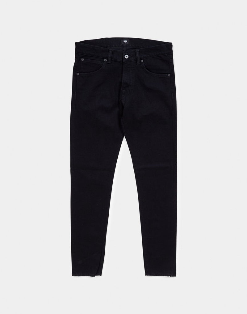 Edwin ED-85 Slim Tapered Drop Crotch Jeans, CS Power Black Denim