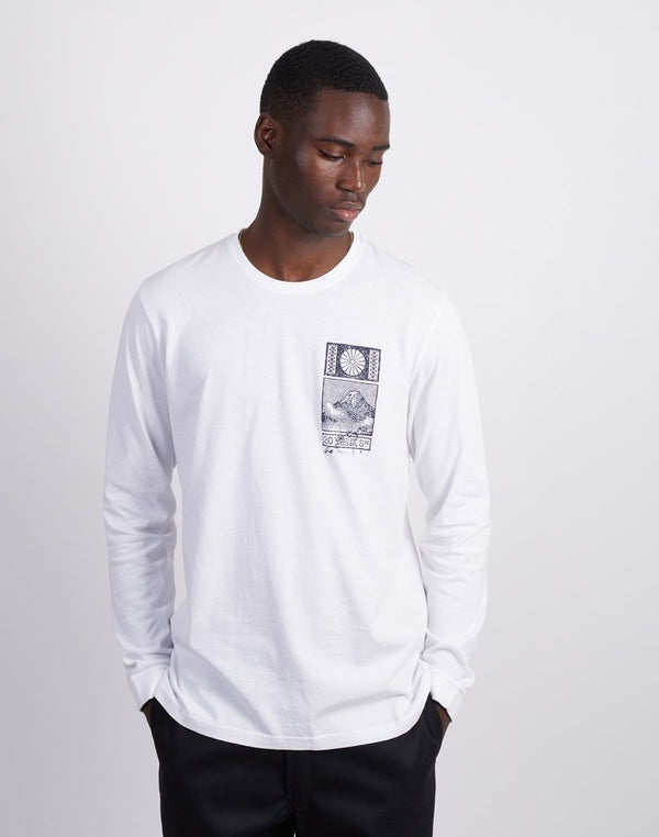 Edwin From Japan With Love Long Sleeve T-Shirt White