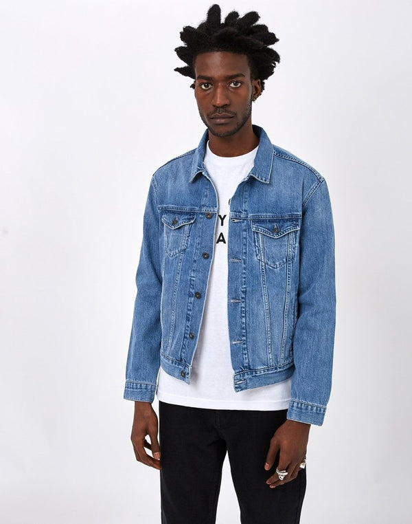 Edwin - High Road Kingston Blue Denim Cotton 12oz Jacket Light Stone Wash
