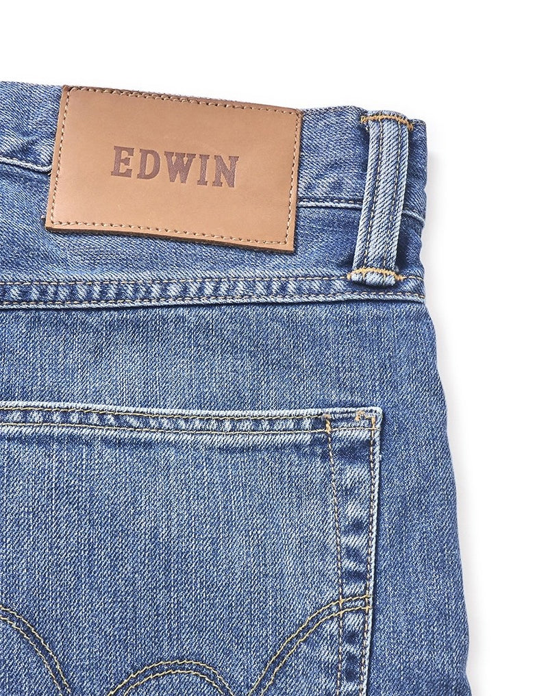 Edwin - ED-55 Regular Tapered Kingston Blue Denim Cotton 12oz Jean Clean Wash