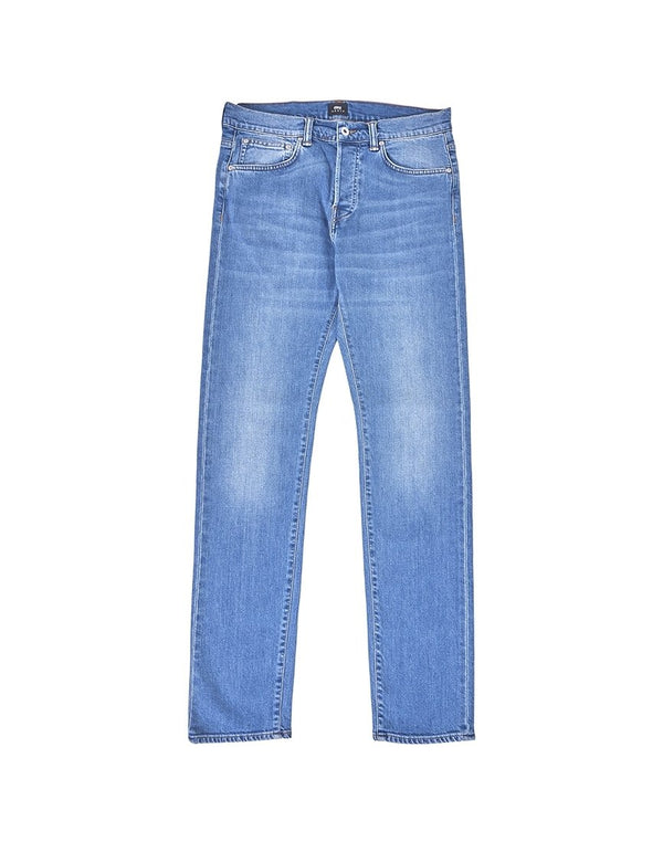 Edwin - ED-80 Slim Tapered CS Power Blue Denim 11.5oz Jean Pacific Wash