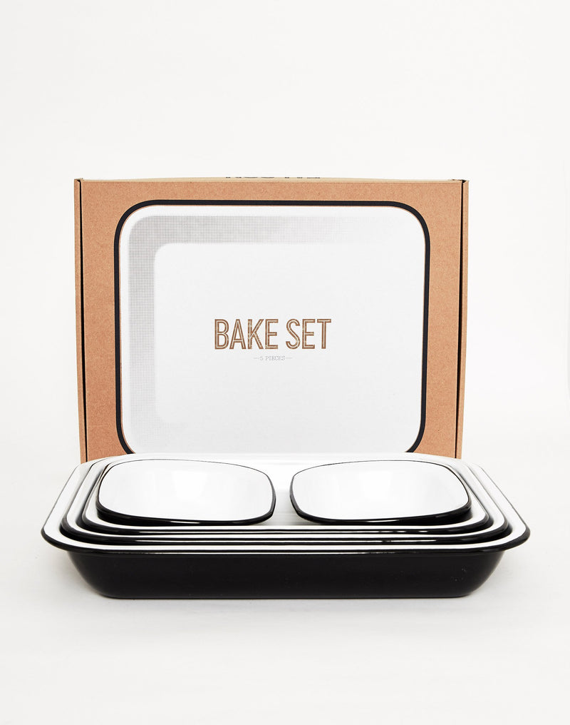 Falcon Enamelware - Bake Set (5 items) Black