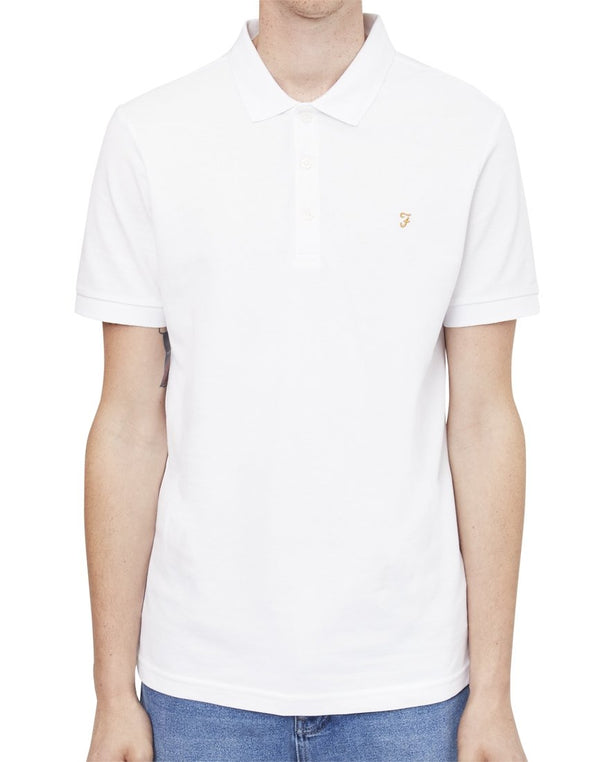 Farah - Blaney Short Sleeve Polo Shirt White