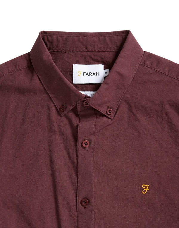 Farah - Leon Long Sleeve Shirt Red