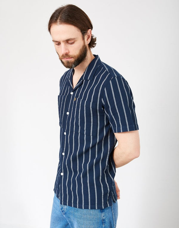 Farah - Robbins Short Sleeve Shirt Navy