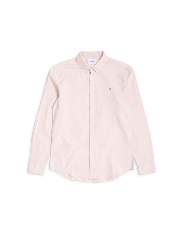 Farah - Brewer Long Sleeve Shirt Pink