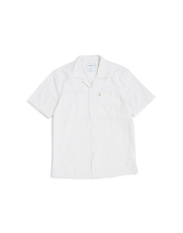 Farah - Gretton Short Sleeve Shirt White