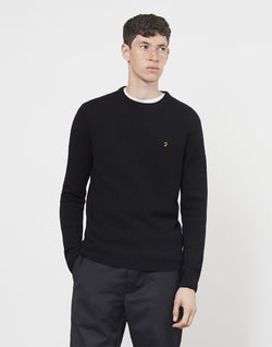 Farah - Rosecroft Lambswool Jumper Black