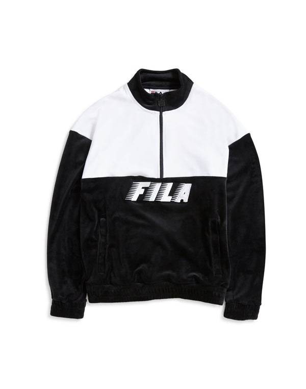 Fila - Black Line Easton Velour Half Zip Sweatshirt Black