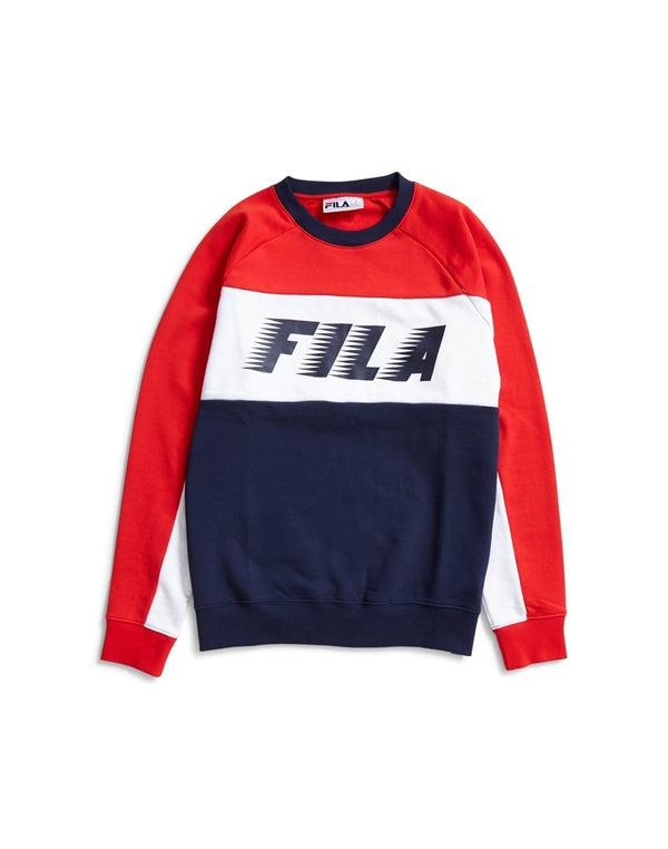 Fila - Black Line Layton Colour Block Sweatshirt Blue