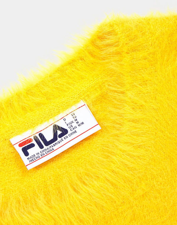Fila Cash - Eyelash Knit Sweatshirt Yellow