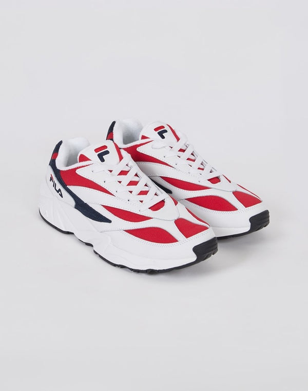 Fila - Black Line Venom Low Trainer White & Red