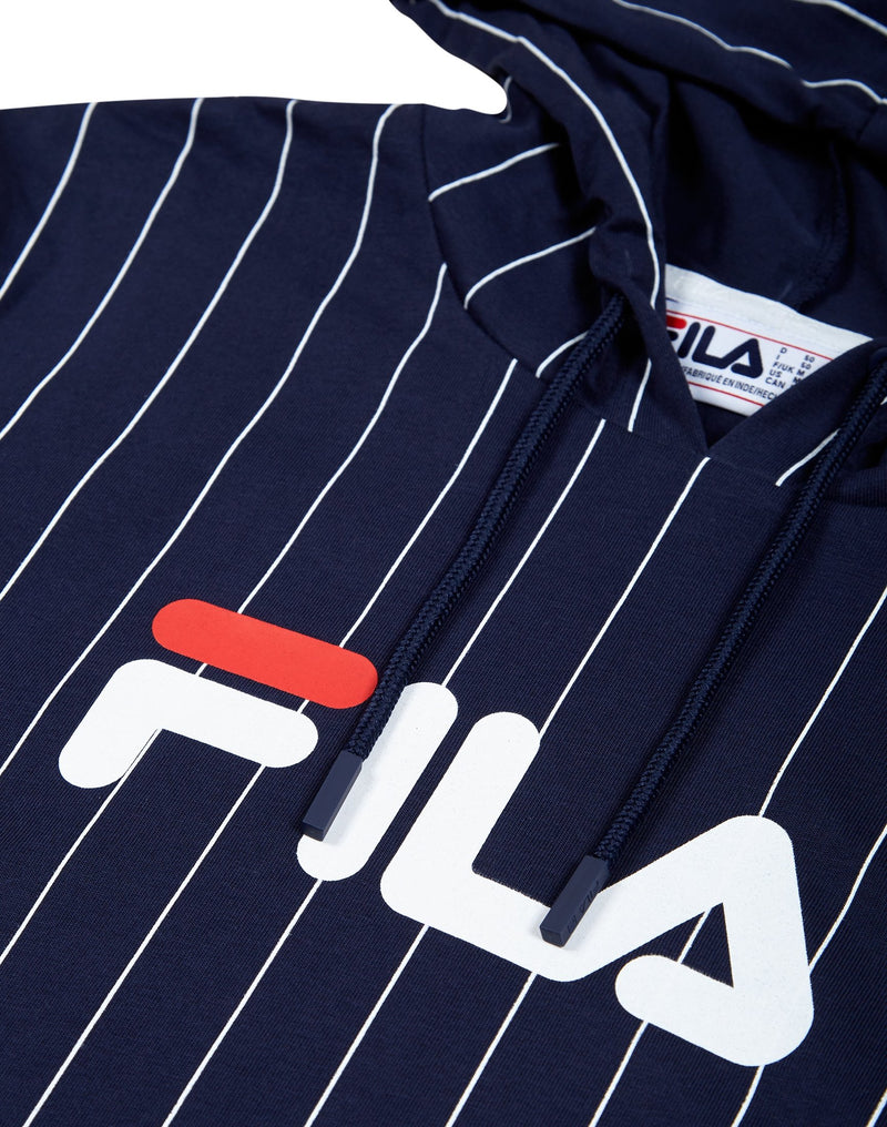Fila - Mario 2 Long Sleeve Hooded Tee Navy