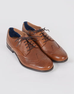 Hudson Aylesbury Calf Brogue Tan